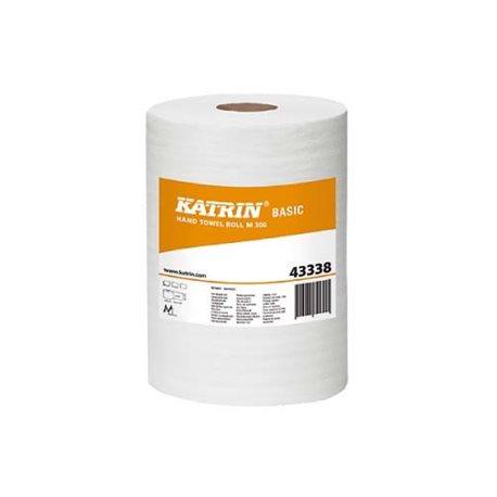Katrin Basic M 300 centerfeedrol 1-lgs, natuurwit, 18x300m pak à 6 rol