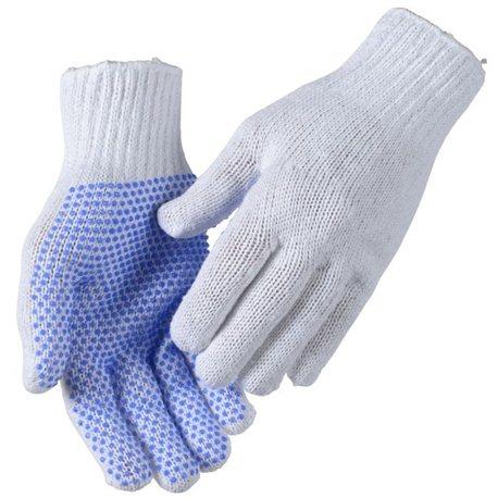 Rondgebreide handschoen PVC noppen (12 paar) | Maat: 10
