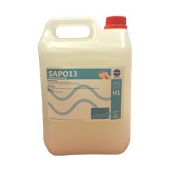 Dispenserzeep SAPO 13 Orphisch deluxe wit Refill 5L