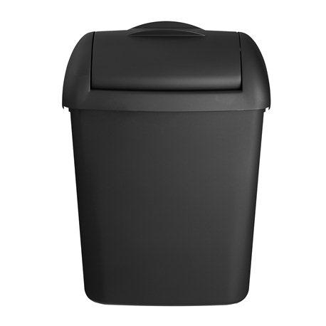 Quartz black hygienebak kunststof, mat, 8 liter (inclusief met muurbevestigingsset)