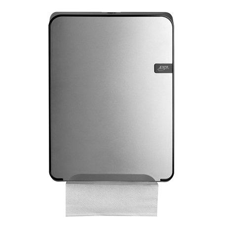 SAPO Quartz silver vouwhanddoekdispenser t.b.v. C fold en multifold