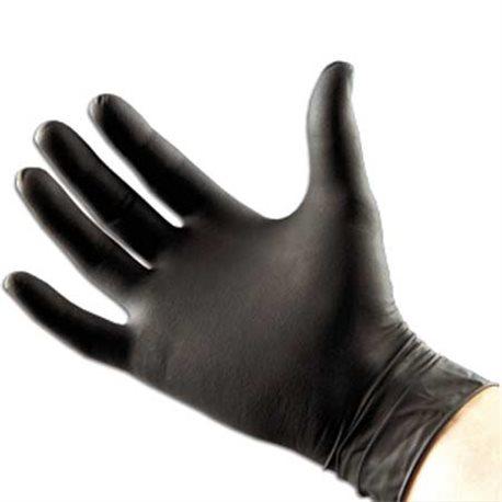 Nitril handschoen (200 stuks!) ongepoederd, zwart Maat M