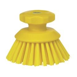 Vikan Hygiene 3885-6 ronde werkborstel geel, harde vezels, ø110mm /15