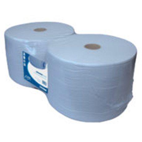Industriepapier REC Blauw 1Laags 1000 meter x 23 cm 2 rol per pak.