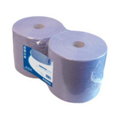 Industriepapier REC Blauw 2 laags 380 meter x 26 cm 2 rol per pak.