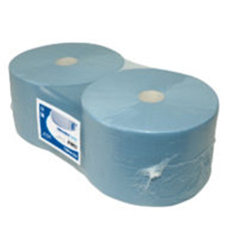 Industriepapier perf. CEL Blauw 3Laags 380 m x 24 cm 2 rol per pak.