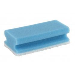 Spons met handgreep Blauw/Wit 150x70x45 mm (10 stuks)