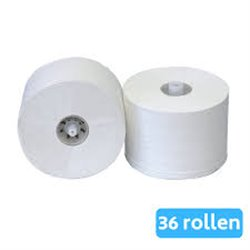 Toiletpapier met dop Cellulose 2 Laags (doos 36 rol)