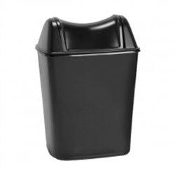 Sapo afvalbak 8 liter met swingdeksel zwart
