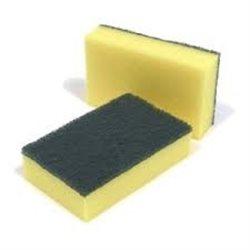 SAPO schuurspons professional XL geel/groen | 10 stuks