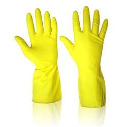 Latex huishoudhandschoen, geel - mt L 1 paar
