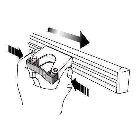 Toolflex ophangsysteem 50 cm incl. 3 steelklemmen
