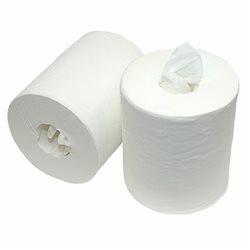 Midi-Centerfeedroll coreless, Cellulose 1 laags, 300 meter - 6 rol per doos