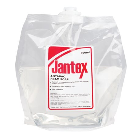 Navulling antibacterie schuimzeep/foamzeep 6 x 800 ml